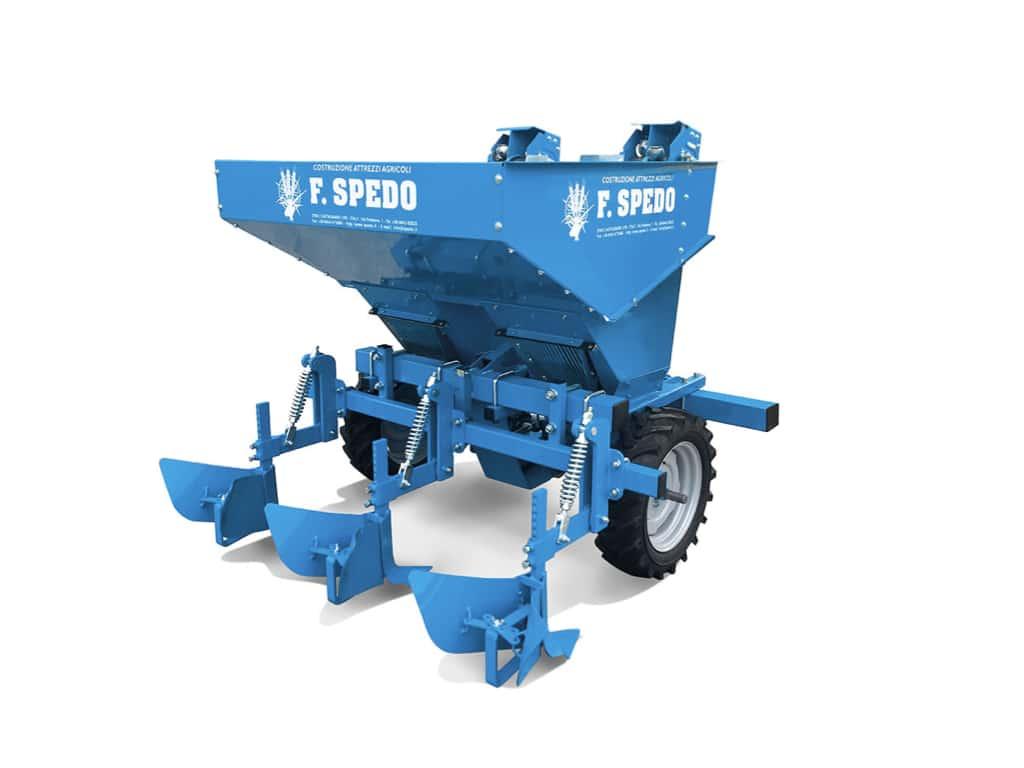 Semina raccolta blu Scava Patate Spedo zero branco Treviso agricoltura